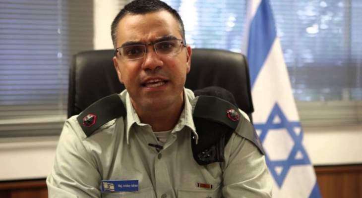 أدرعي: قصفنا موقعين لحماس بعد تعرض الية هندسية لاطلاق نار من قطاع غزة