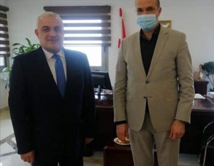 زيارة رئيس جمعية تجار لبنان الشمالي إلى وزير الصحة.